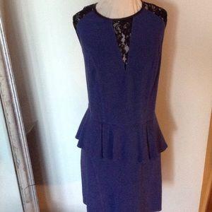 ABS by Allen Schwartz blue midi dress.